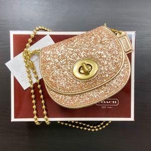 Coach Poppy Gold Sequin Mini Evening Bag